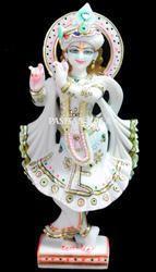 White Marble Standing Krishna Statue