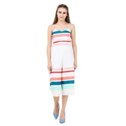 Colourfull Culottes Western Jumpsuit Dress