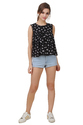 Printed Flare Women's Top