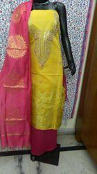 Banarasi Gota Patti Yellow Suit