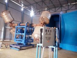 Two Arm Bi Axial Roto Moulding Machine