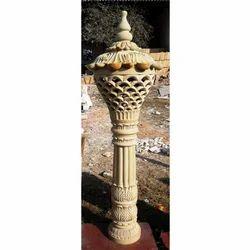 Gardens Sand Stone Lamp Post