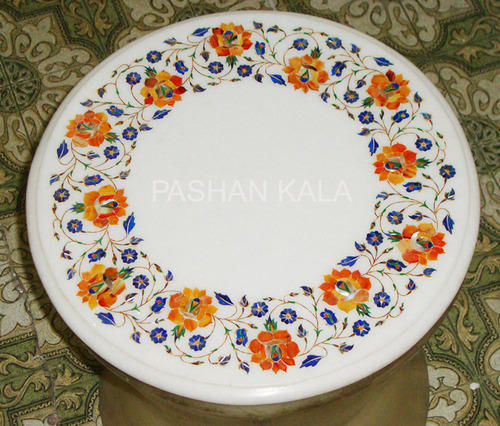 Wonderful Marble Inlay Table Top   Marble Inlay Coffee Table Top Wholesale Trader  From Agra