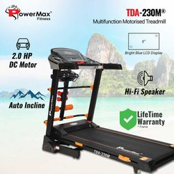 Powermax TDA-230M Multifunction Motorized Treadmill with Auto Lubrication