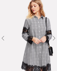 d450021af3 Description Color  Grey Style  Casual Material  Polyester Neckline  Collar  Sleeve Length  Long Sleeve Silhouette  Shift Dresses Length  Short  Decoration  ...