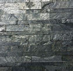 Silver Grey Slate Stone Wall Panels / Cladding Tiles