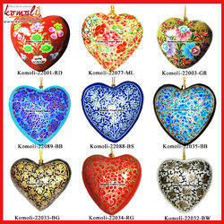 Christmas Ornament Heart Decoration Paper Mache Custom Design