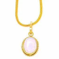 White Opal Panchdhatu Gemstone Pendant