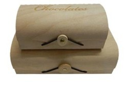 Creative Birch Veneer Wooden Chocolate Box