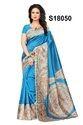 Multicolored Bhagalpuri Silk Saree