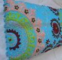 Suznai Embroidered Cotton Cushion