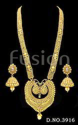 Traditional Long Haram Necklace Set