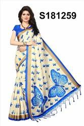 Bhagalpuri Printed Silk Saree
