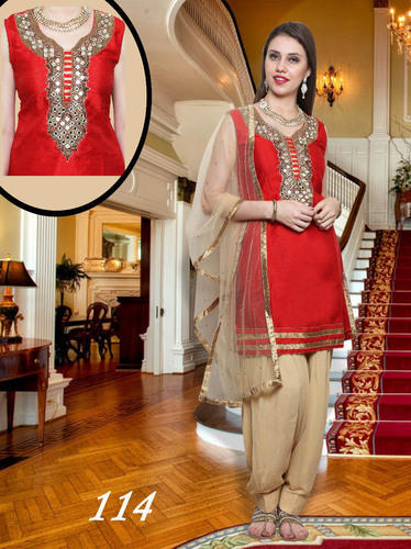 Designer Patiala Mirror Work Suit