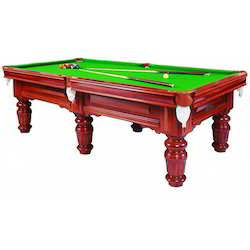 Brown Pool Table with Indian Marble