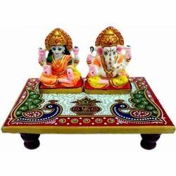 Marble Laxmi Ganesh Chowki