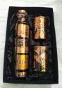 Pure Copper Printed Design Bottle & Glass Gift Set