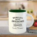 Inside Color Outside White Sublimation Printed Mug