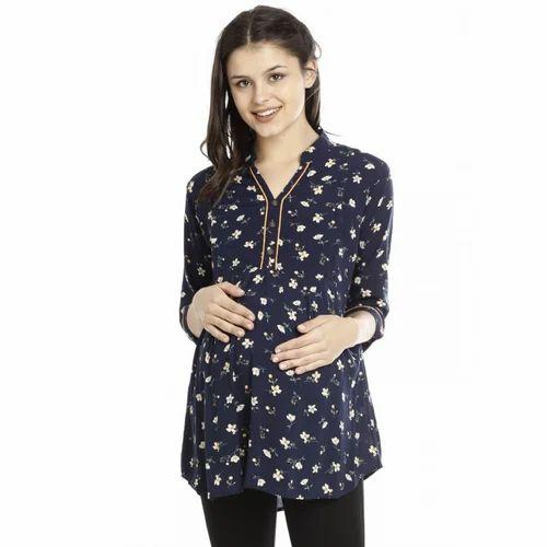 Maternity Tunics - Blue Floral Feeding Tunic Manufacturer from Bengaluru c34603c51