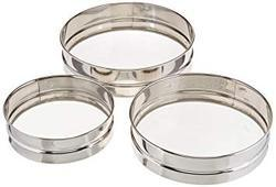 Stainless Steel Flour Sieves Set of 3