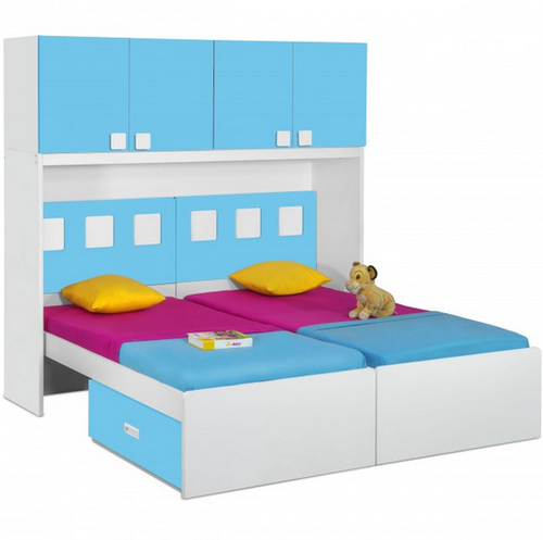 Bed For Kids Functional Beds   Orlando Twin Bed With Drawers Retail  Showroom From New Delhi