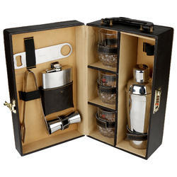 Brown - 03 - Travel Cocktail Bar Accessories Set