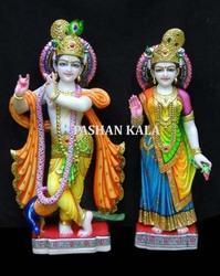 Beautiful Marble Radha Krishna Moorti