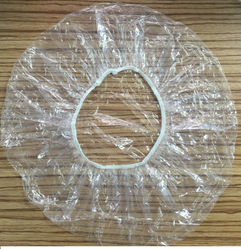 Round Disposable PE Shower Caps