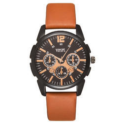 Vespl Casual Analogue Black Dial Men's Watch (VW1001)