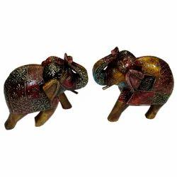 Wooden Embossed Work Elephant