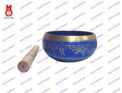 Nepali Singing Bowl Blue Patina