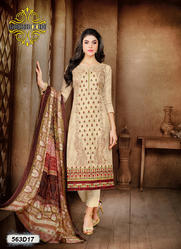 Chanderi Embroidery Suit