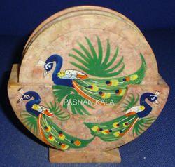 Inlay Soapstone Coaster