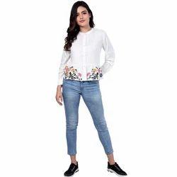 Ladies White Casual Top