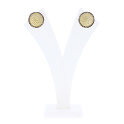 Diamond Hammered Studs Earrings