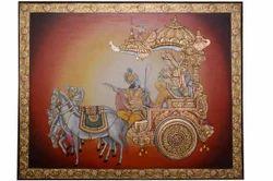 Krishna Arjun Painting