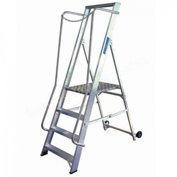 Tread Aluminum Wide Step Ladder