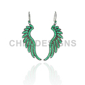 Green Onyx Gemstone Hook Earrings