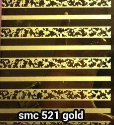 Mirror Etched Stainless Steel Sheet Gold Color