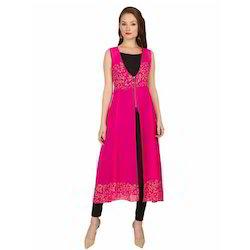 Ira-Soleil-2-Peice-Polyester-Chiffon-Pink-Long-Sleeveless