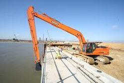 Long Reach Poclain Excavator Rental Services