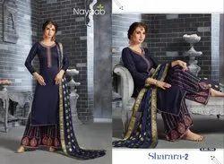 Nayaab Embroidered Sharara Suit