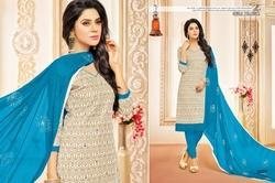 3/4 Sleeve Mallika Salwar Suit Fabric