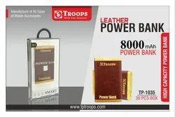 Troops Tp-1035 800mah Metal Leather Power Bank