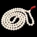 108 Beads South Sea Pearl/ Saccha Moti Mala For Women And Men- 6 Mm White