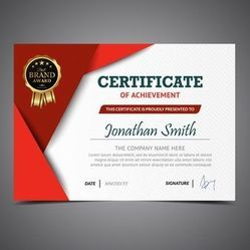 Foil Printed Certificates