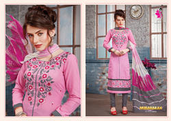 Fancy Cotton Churidar Suit