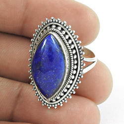Fabulous Design 925 Sterling Silver Lapis Ring