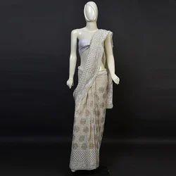 saree pure all over heavy mukaish work