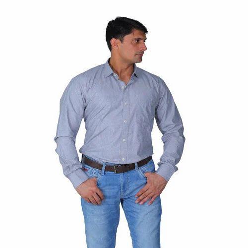 2f444d00a69 Mens Plain Shirt - Cotton Light Grey Shirt Manufacturer from Gurgaon